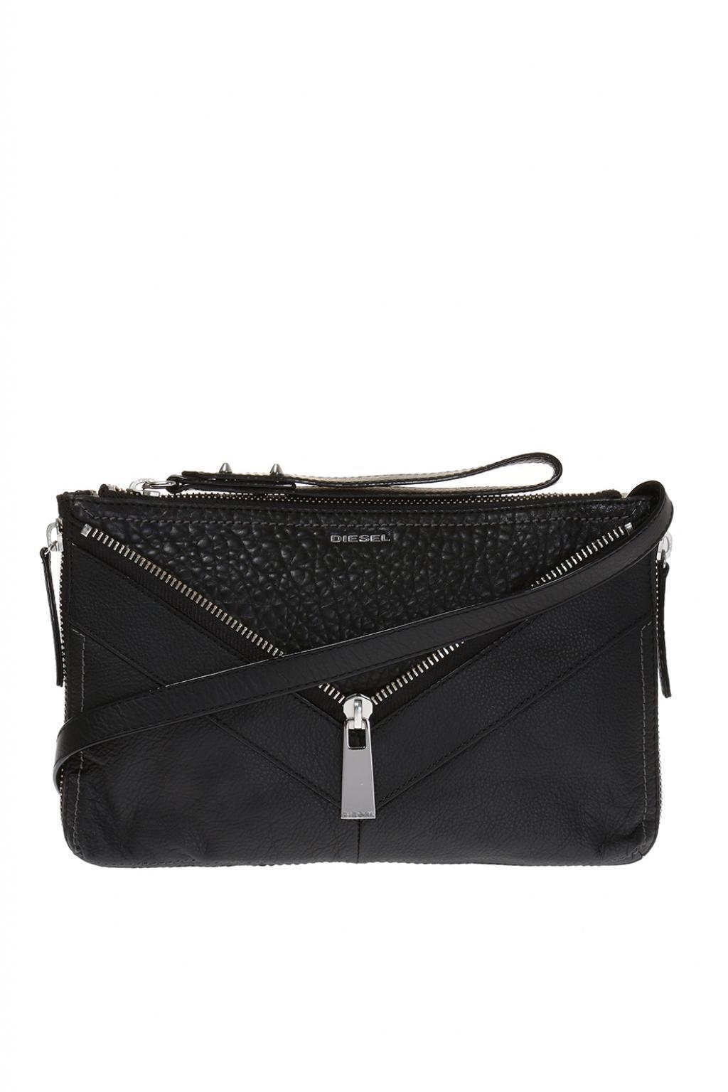 Womens le-zipper Le-ninna - Handbag Top-Handle Bag Black (Black) Diesel AQnITsn