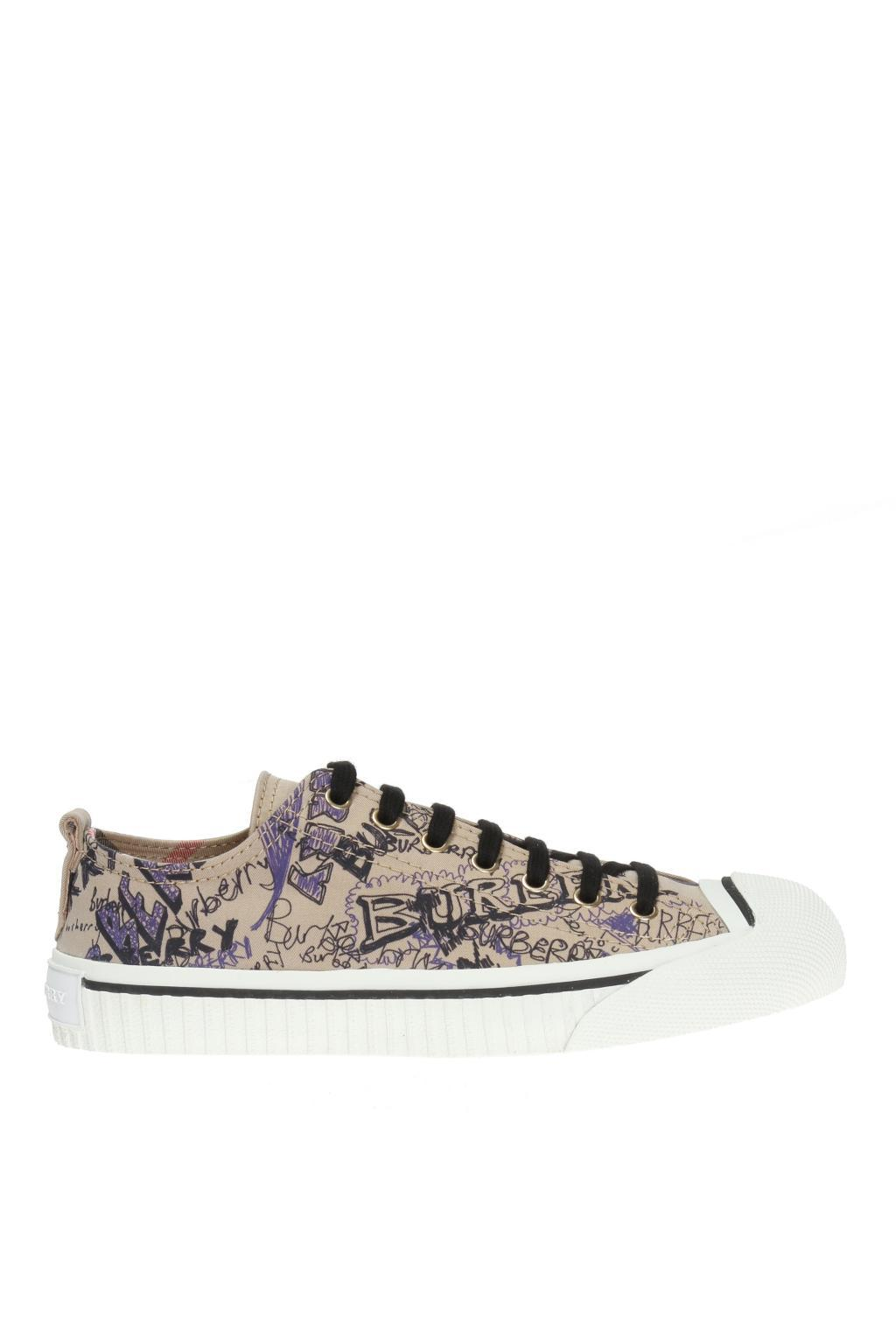 doodle print high-top sneakers - Brown Burberry