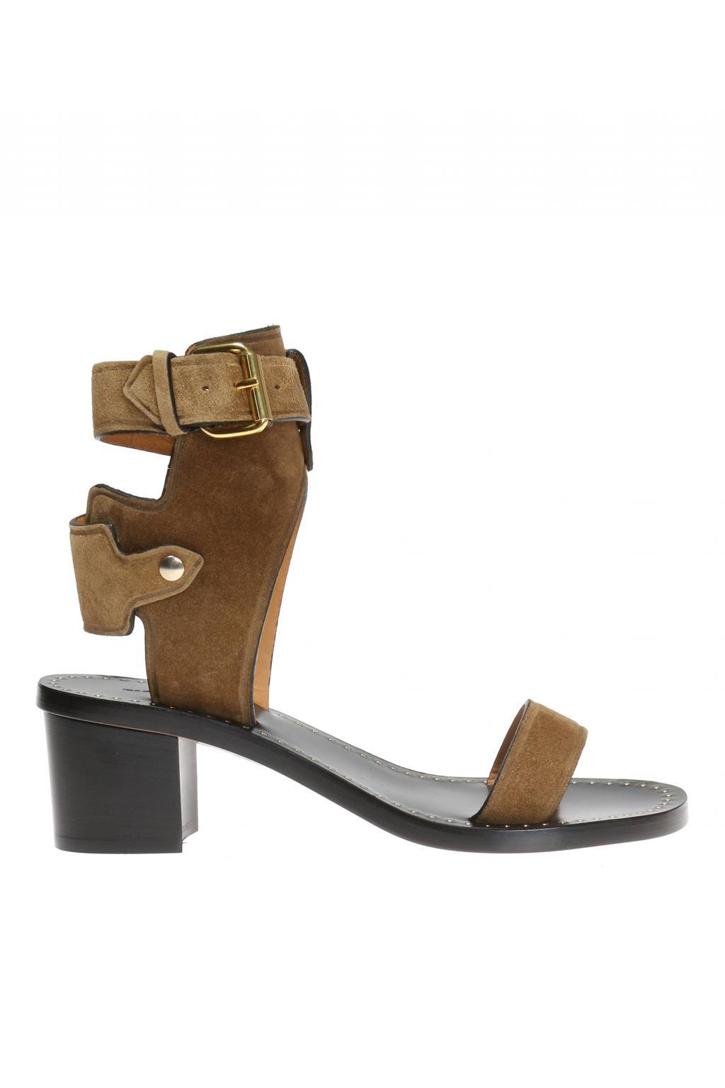 d58de302a71 Isabel Marant  jaeryn  Heeled Sandals in Brown - Lyst