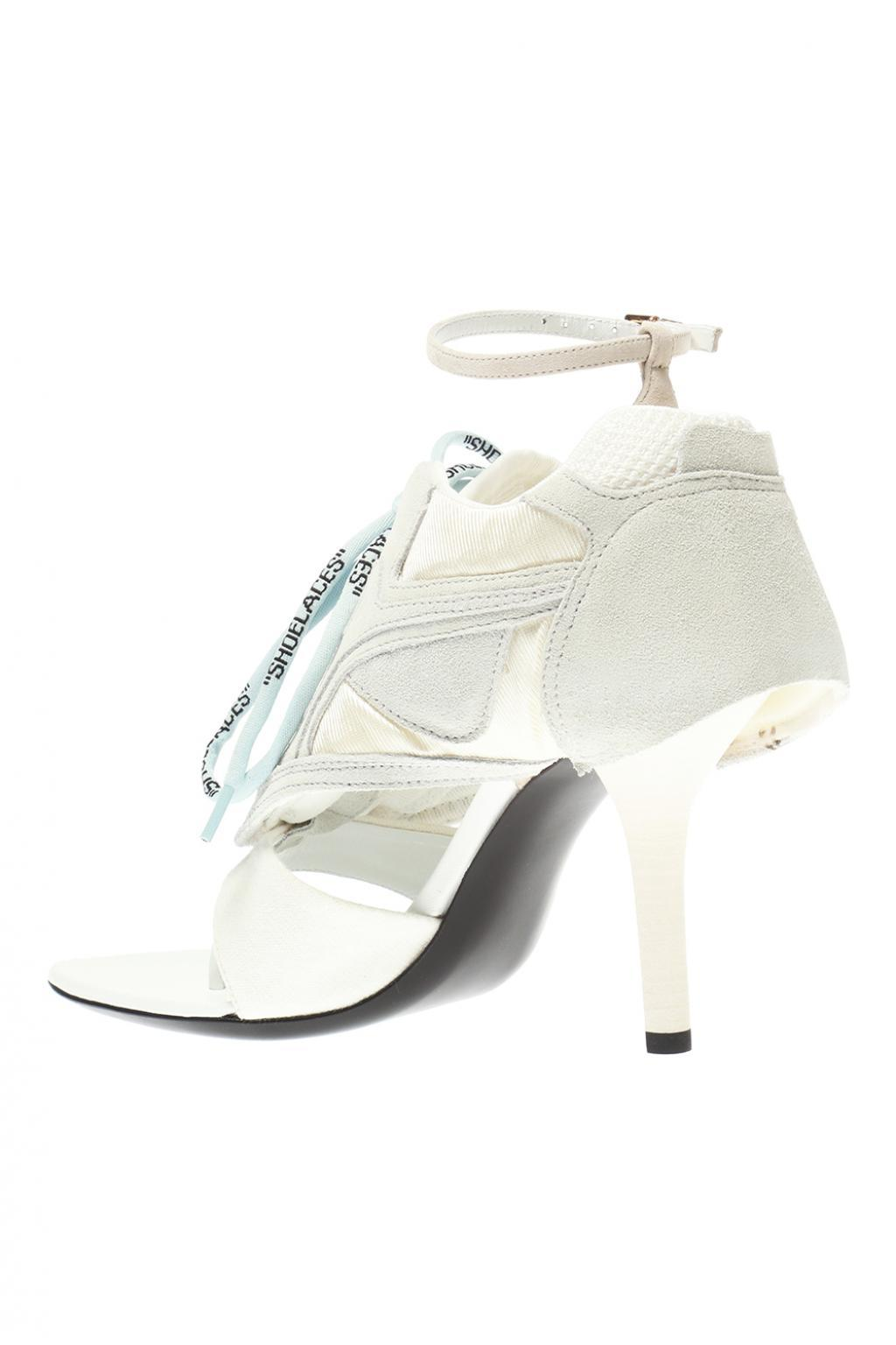 5228ea6c01d ... Virgil Abloh - White Heeled Sandals With Logo - Lyst. View fullscreen