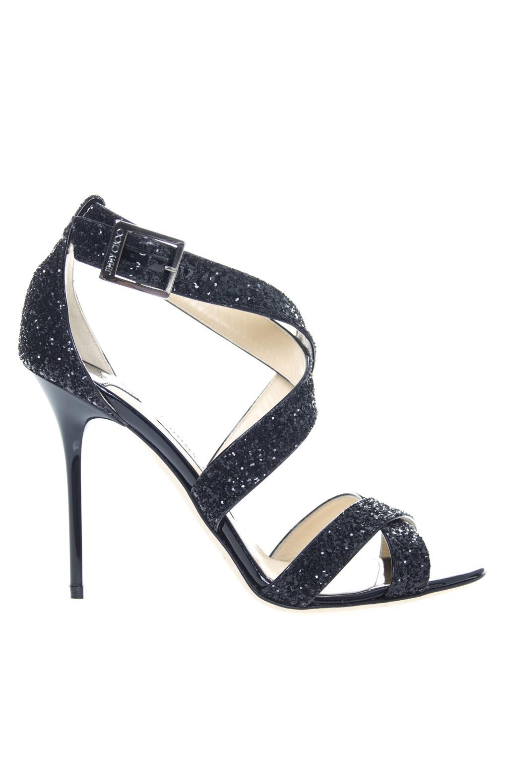 4666d2795 Jimmy Choo  lottie  High Heel Sandals in Black - Lyst