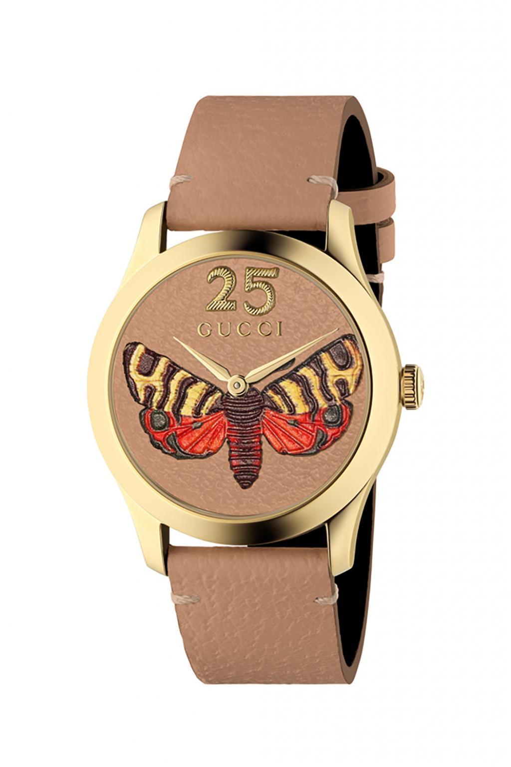 c8841feb172 Gucci - Brown  g-timeless  Watch With Motif Of Moth - Lyst. View fullscreen