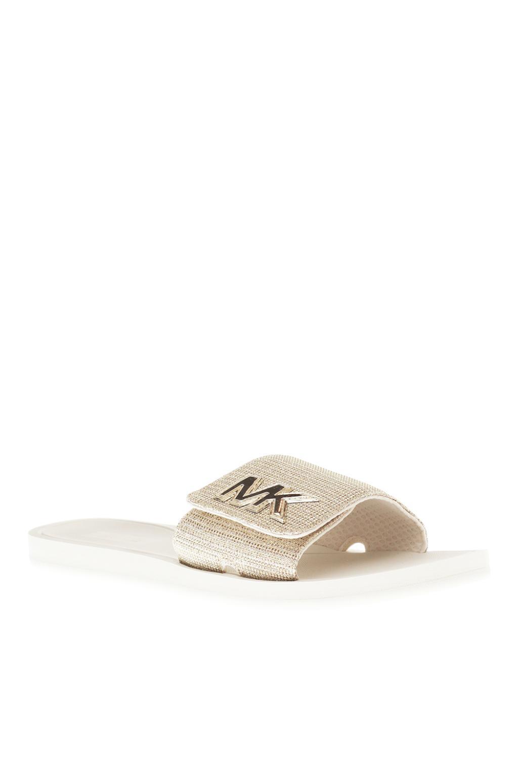 ad05263b829b Michael Kors  mk  Branded Slides - Lyst