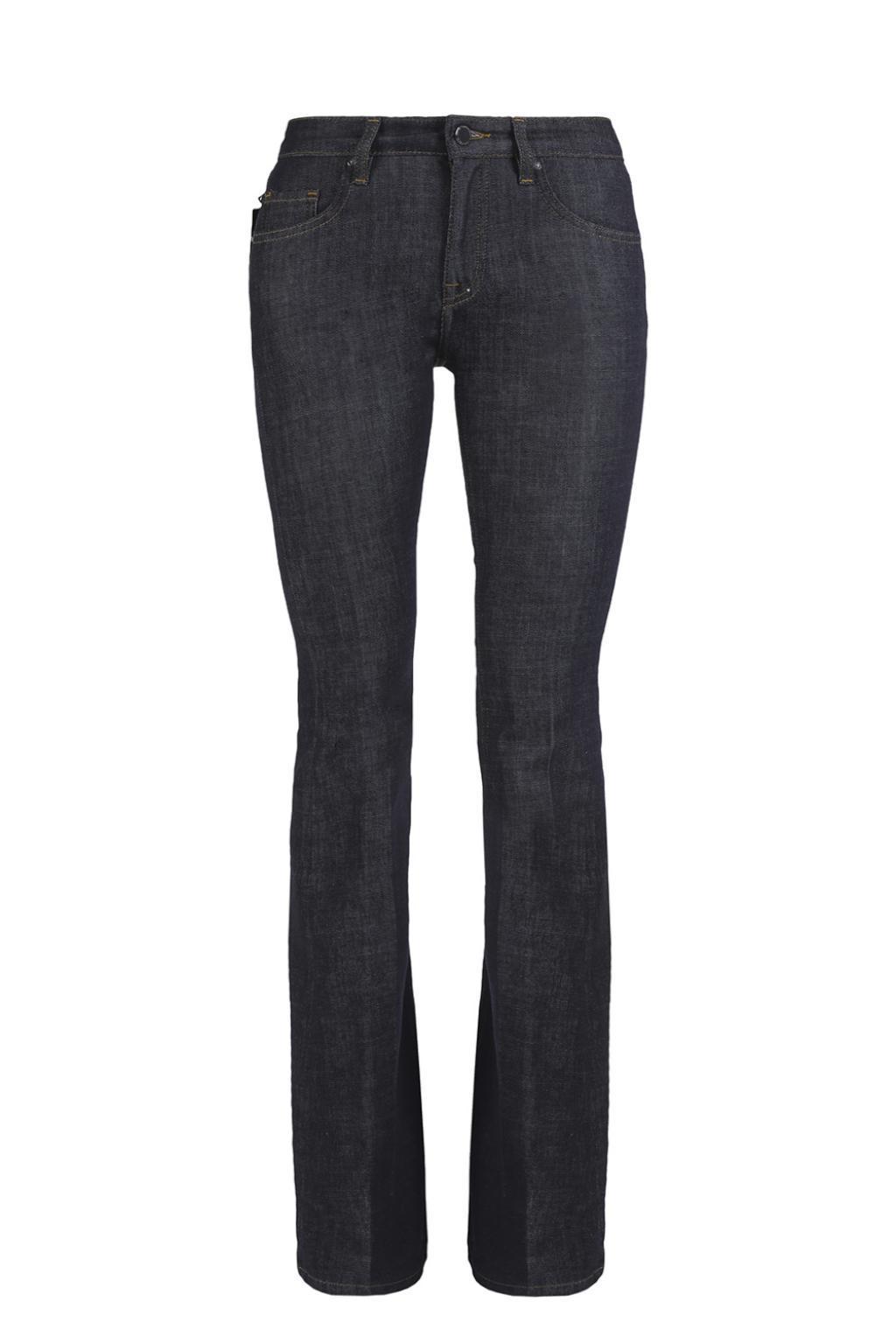 Victoria, Victoria Beckham Woman Low-rise Flared Jeans Dark Denim Size 24 Victoria Beckham