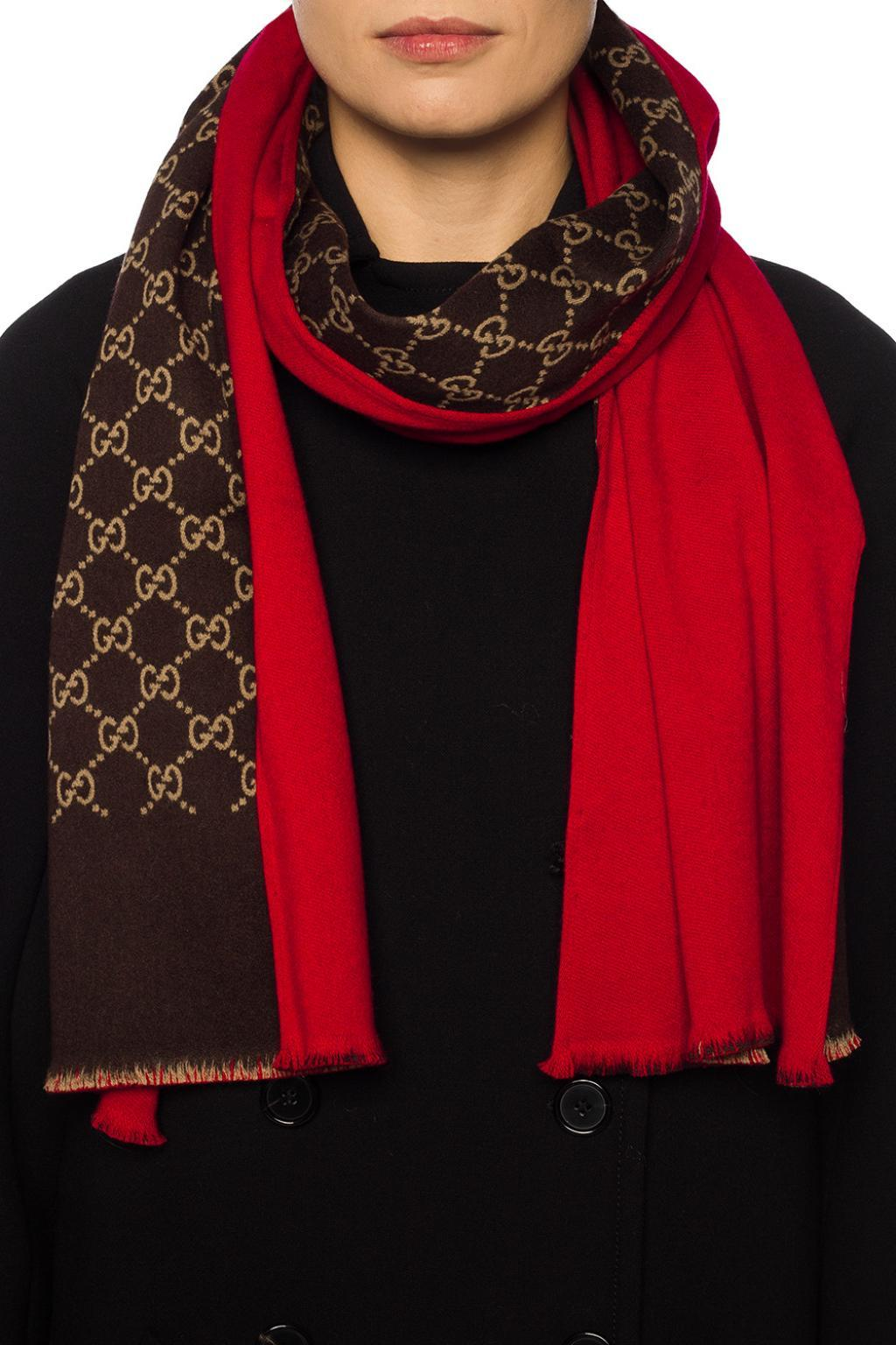 cd4cb762ad3 Gucci - Red Reversible Scarf - Lyst. View fullscreen
