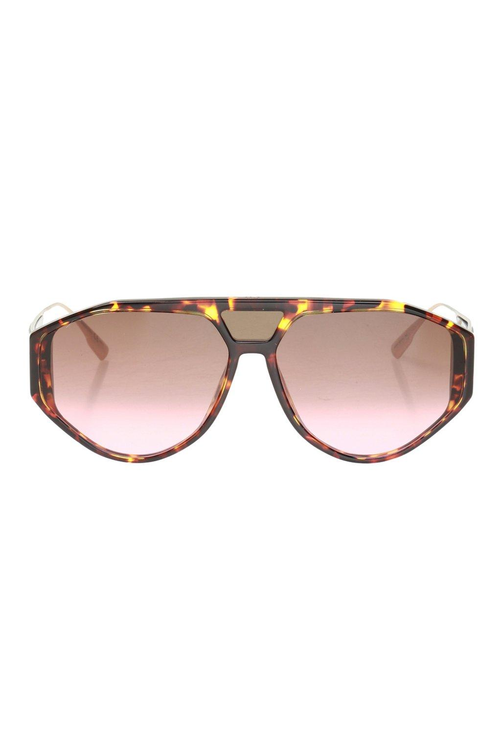 3df0e5e302ed Dior 'clan1' Sunglasses With Logo in Brown for Men - Lyst