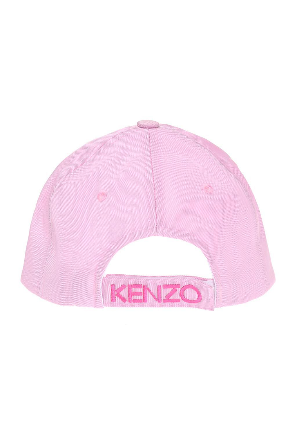 e21684ad2d2 Lyst - KENZO Embroidered Tiger Head Baseball Cap in Pink