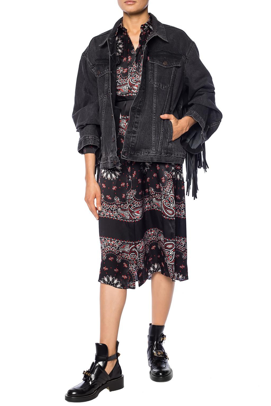 6958d9204e391 Lyst - Amiri Dress With A Collar in Black