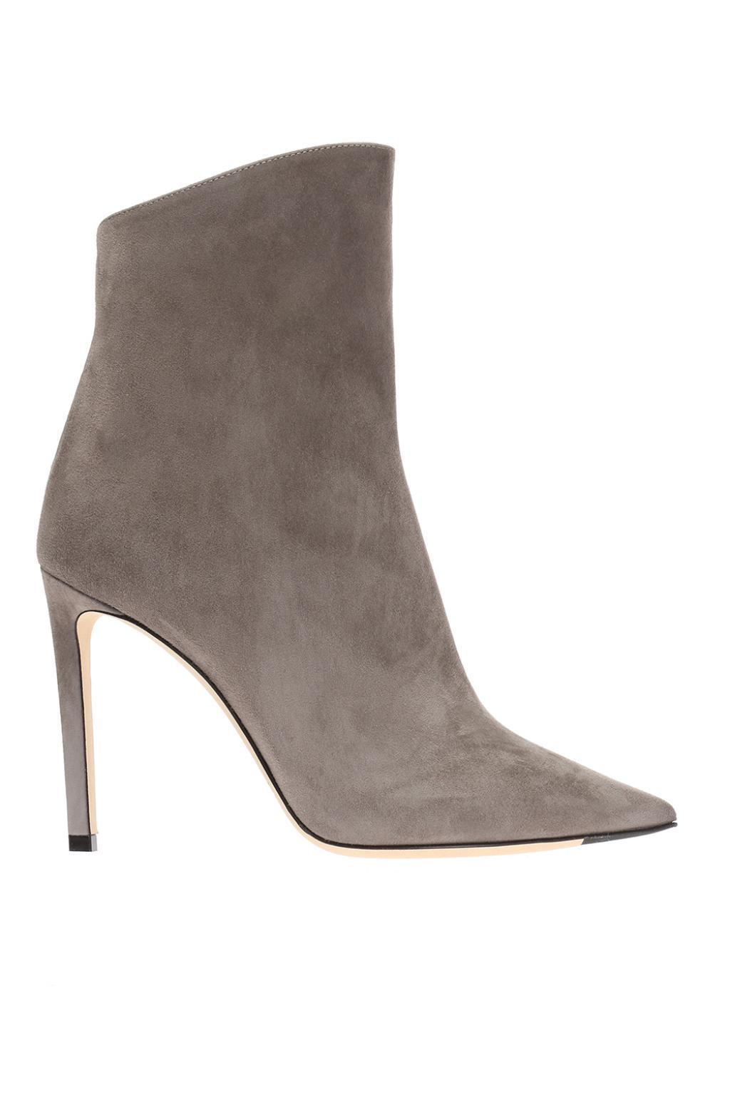 e0e79cf101f9c Jimmy Choo 'helaine' Stiletto Boots in Gray - Lyst