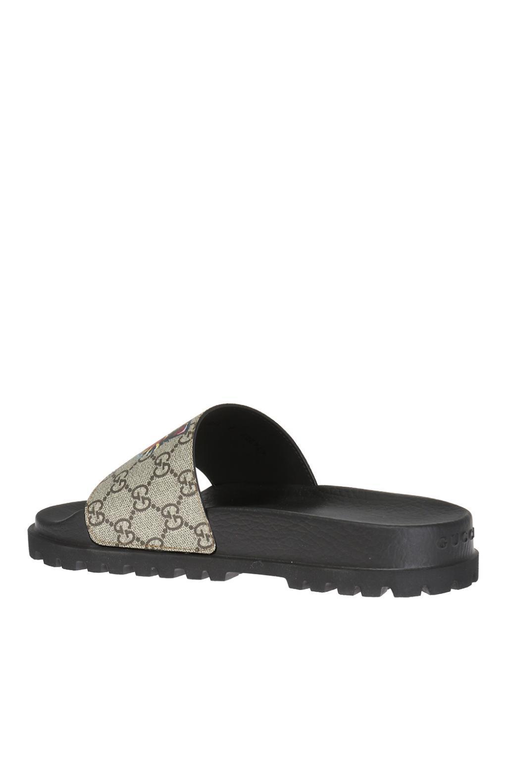 c79ff3db8b1 Lyst - Gucci Tiger Head Slides in Black for Men