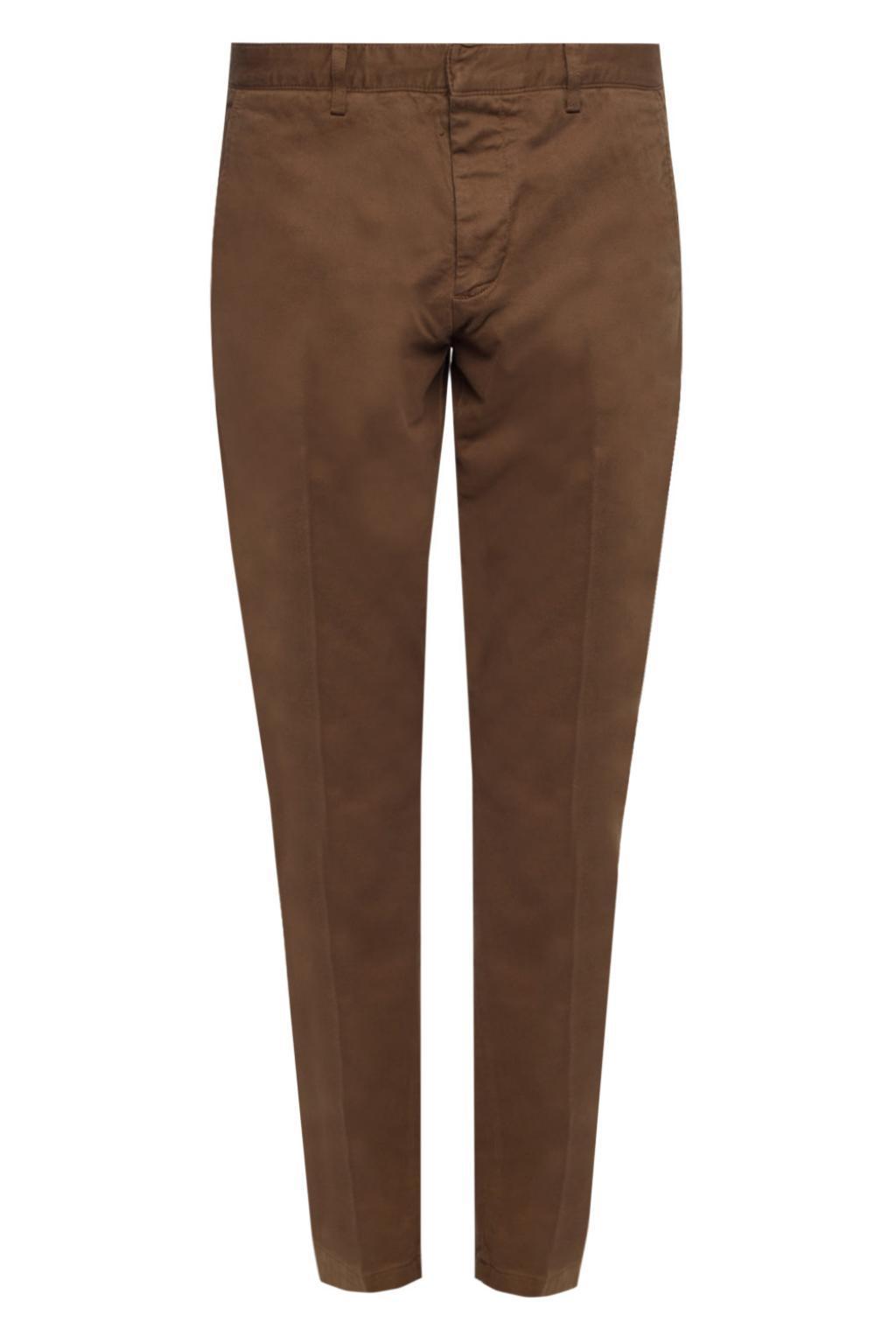 Mens Chino Twill Melange Check Print Trousers Jeckerson U36RKG0tGa