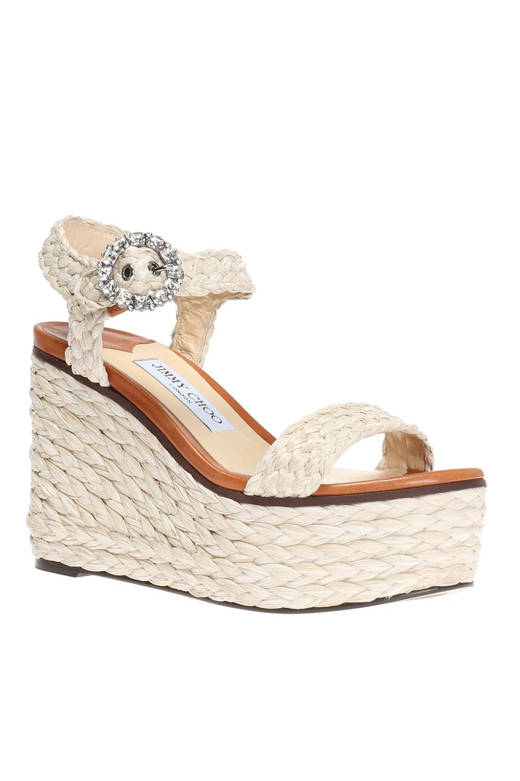 30eb93dfc6a Lyst - Jimmy Choo  nylah  Wedge Sandals in White