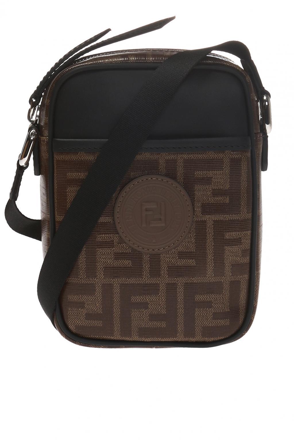 Lyst - Fendi Ff Print Crossbody Bag in Brown for Men - Save 15%