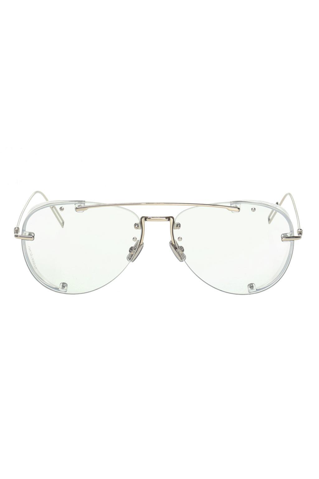 9d0ac8dafd79 Dior 'chroma1' Optical Glasses With Logo in Metallic for Men - Lyst