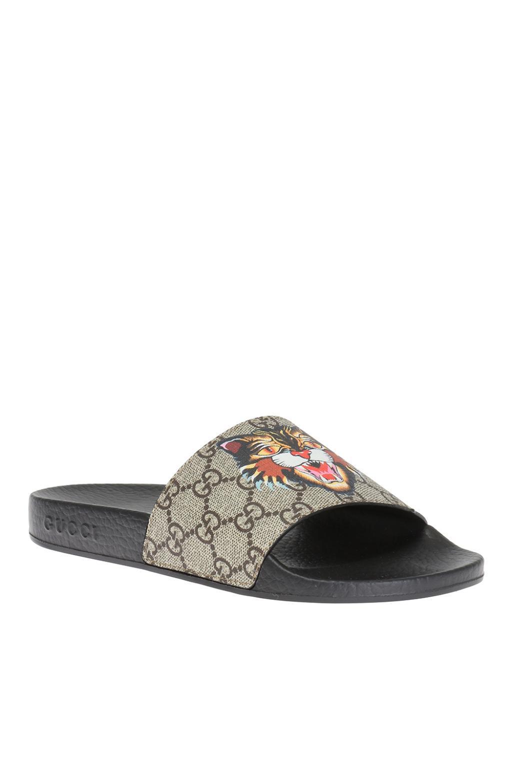 Gucci Tiger Head Slides - Lyst 4e6339cc3c01