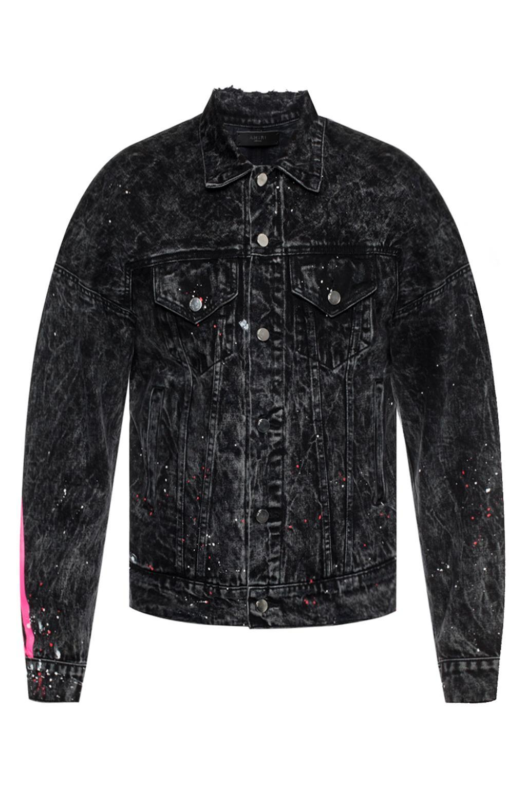 7aa9c496fa2 Lyst - Amiri Denim Jacket With Printed Stripes for Men