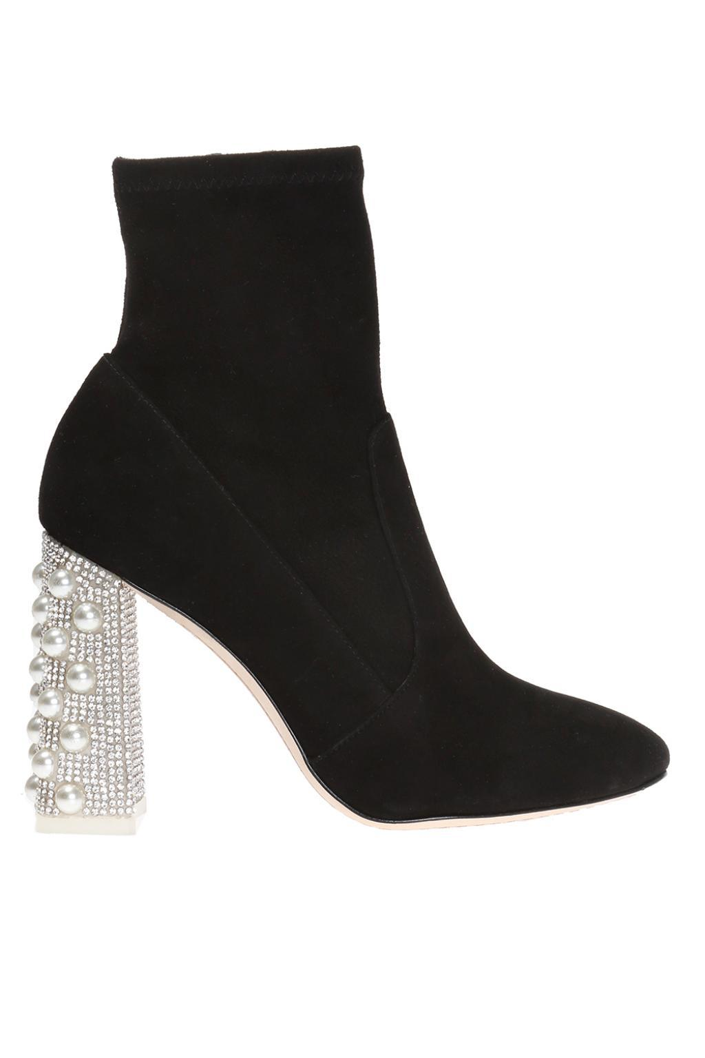 SOPHIA WEBSTER Felicity Mid Ankle Suede Sock Boots