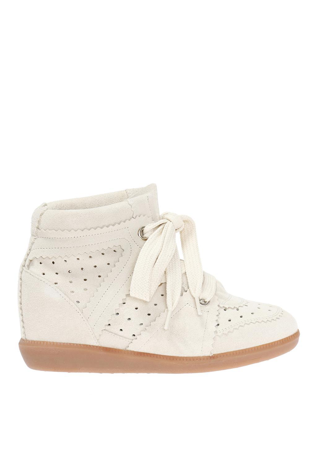 cf93837459c Isabel Marant  bobby  Wedge Sneakers in White - Lyst