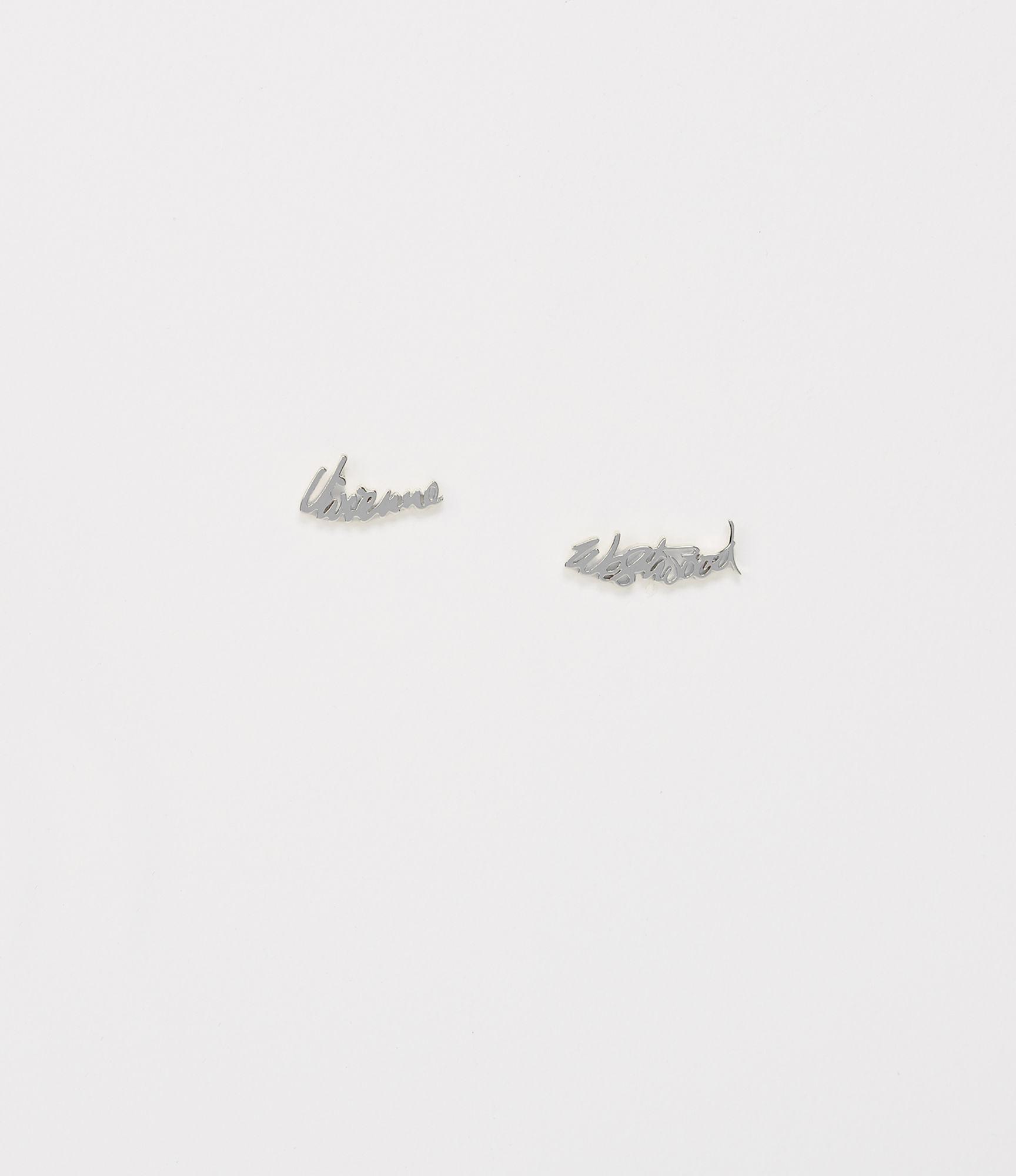 c487e67fe Vivienne Westwood Vw Earrings Silver Tone in Metallic - Lyst