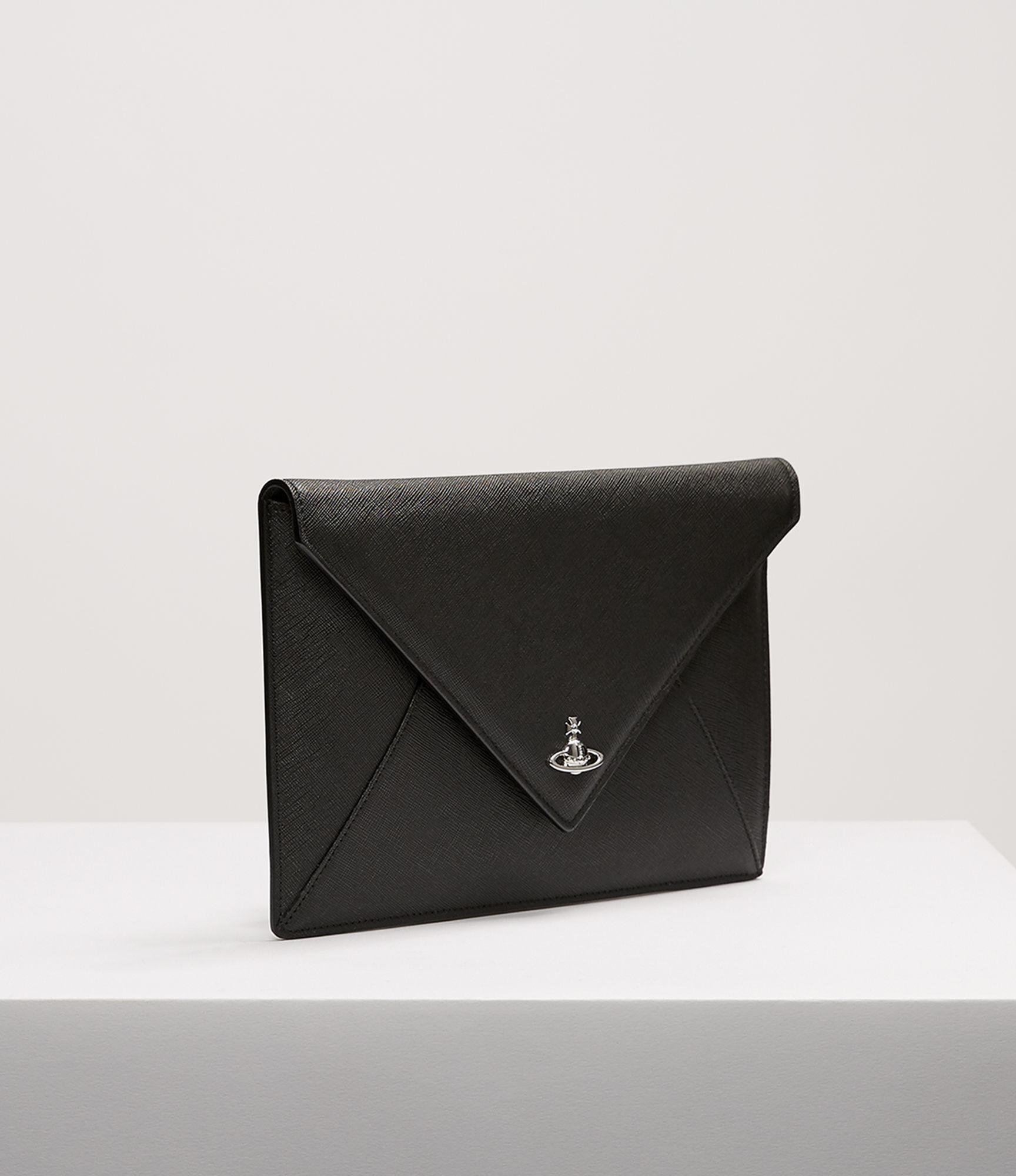 5a9787b16bb21 Vivienne Westwood Pouch 7040 Envelope Clutch Black in Black - Save ...