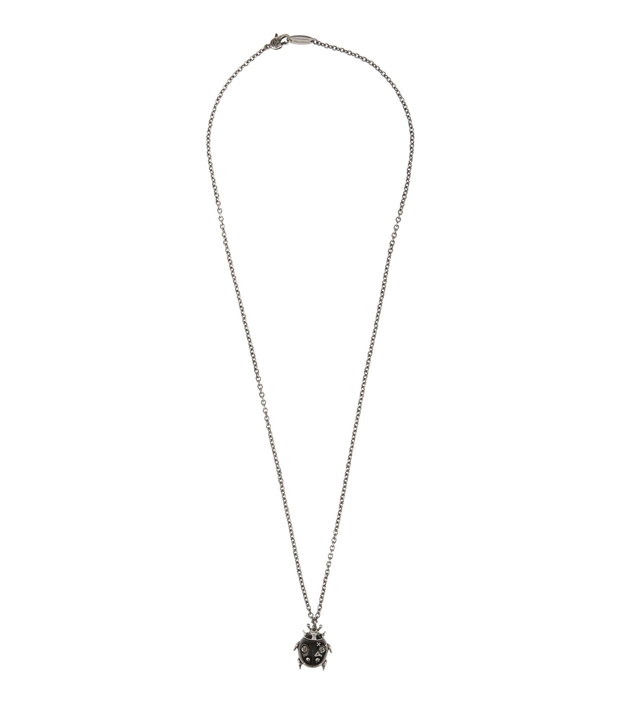 lyst jewelry gallery man gunmetal metallic mouse in cubic for zirkoniablack vivienne black ename pendant westwood men
