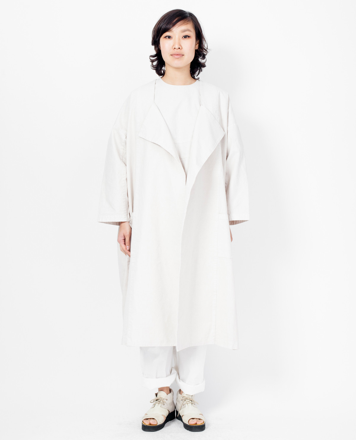 Cosmic wonder canvas kimono natural in white lyst for Cosmic pattern clothing