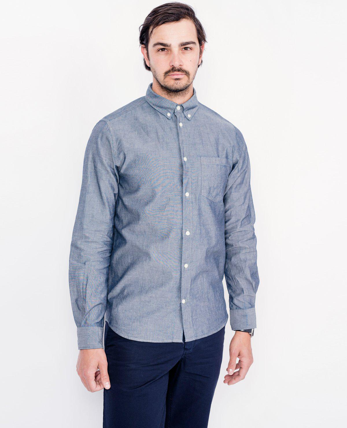 3c4a45110a Lyst - Norse Projects Anton Chambray Shirt   Light Indigo in Blue ...