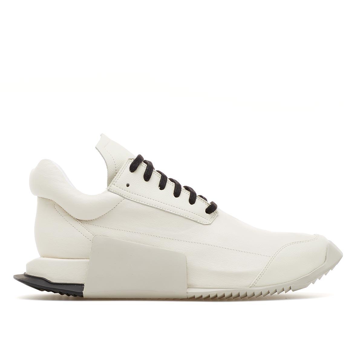 rick owens level runner sneaker in white for men lyst. Black Bedroom Furniture Sets. Home Design Ideas