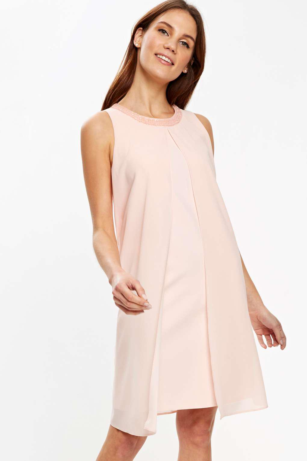 a095ead19d0 Wallis Petite Blush Embellished Dress in Pink - Lyst