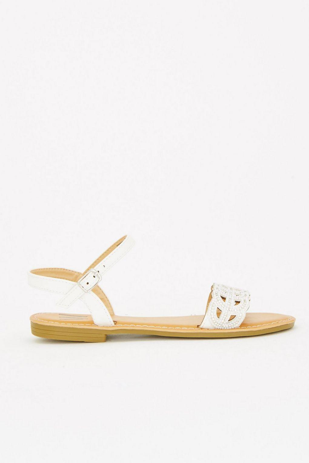 White Wallis Part In Stud Two Lyst Sandal 80PknOw