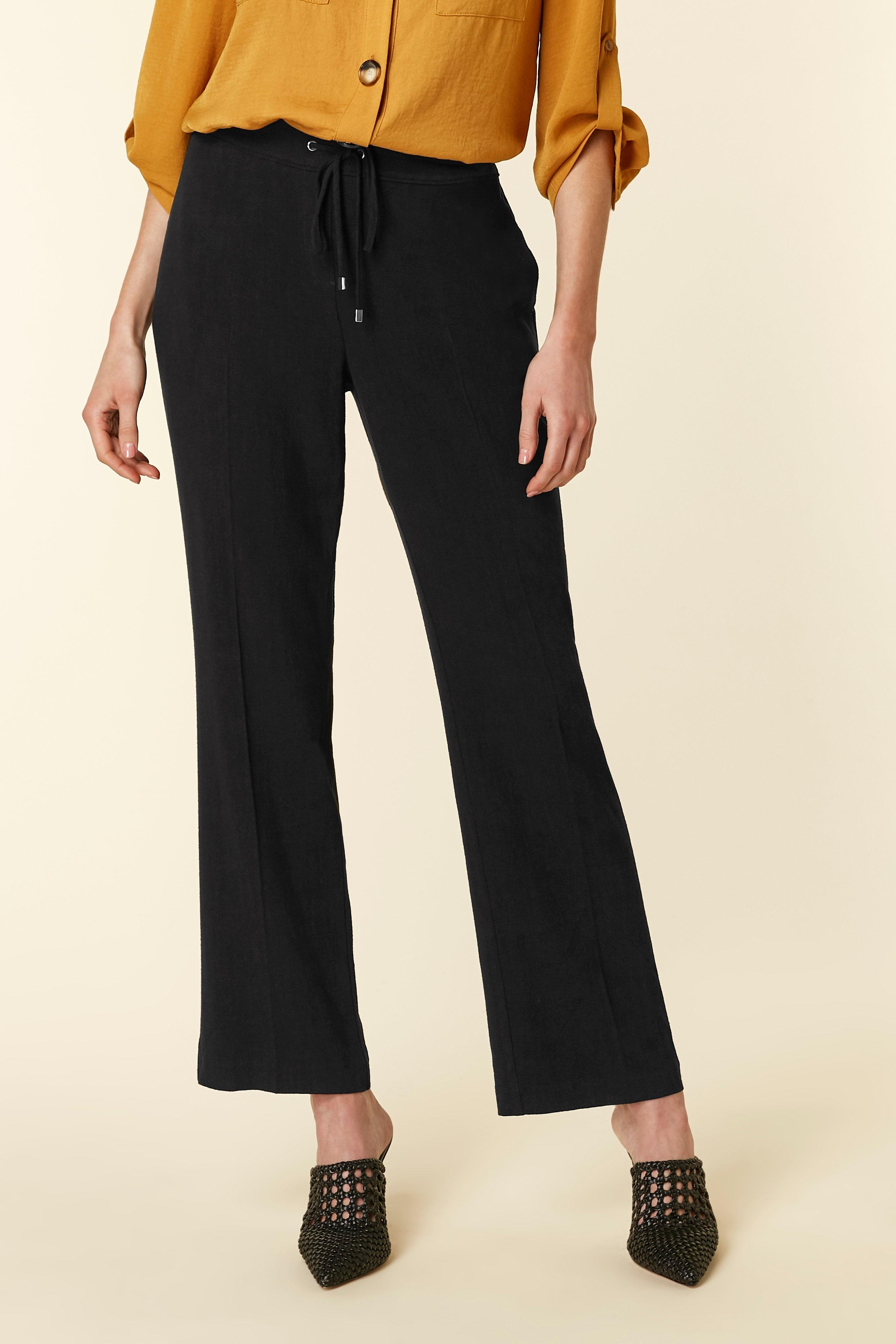 f029dc591a9b5 Wallis - Black Tie Front Linen Blend Trouser - Lyst. View fullscreen
