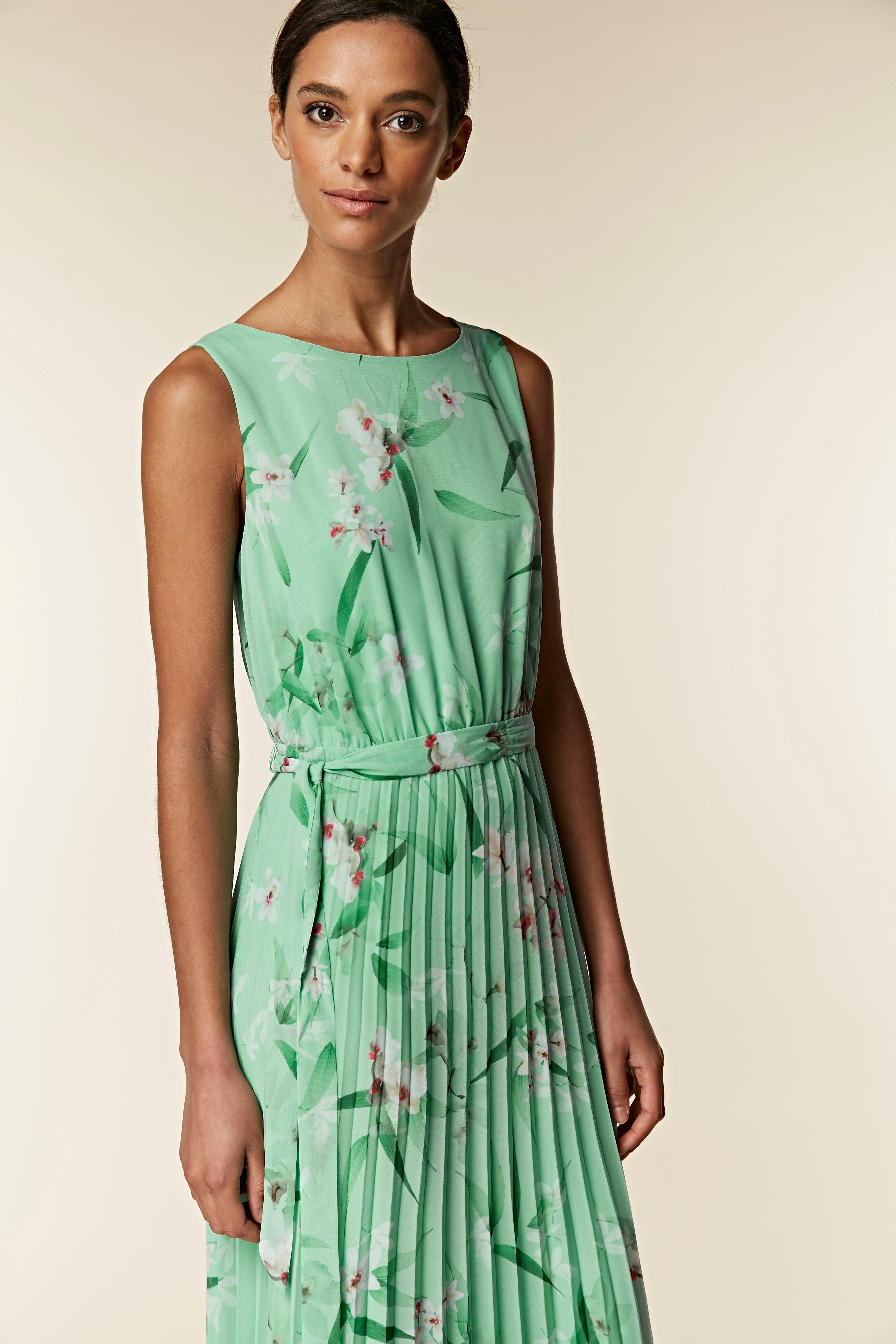 d9e9c648211e Wallis Mint Green Floral Pleated Maxi Dress in Green - Save 50% - Lyst