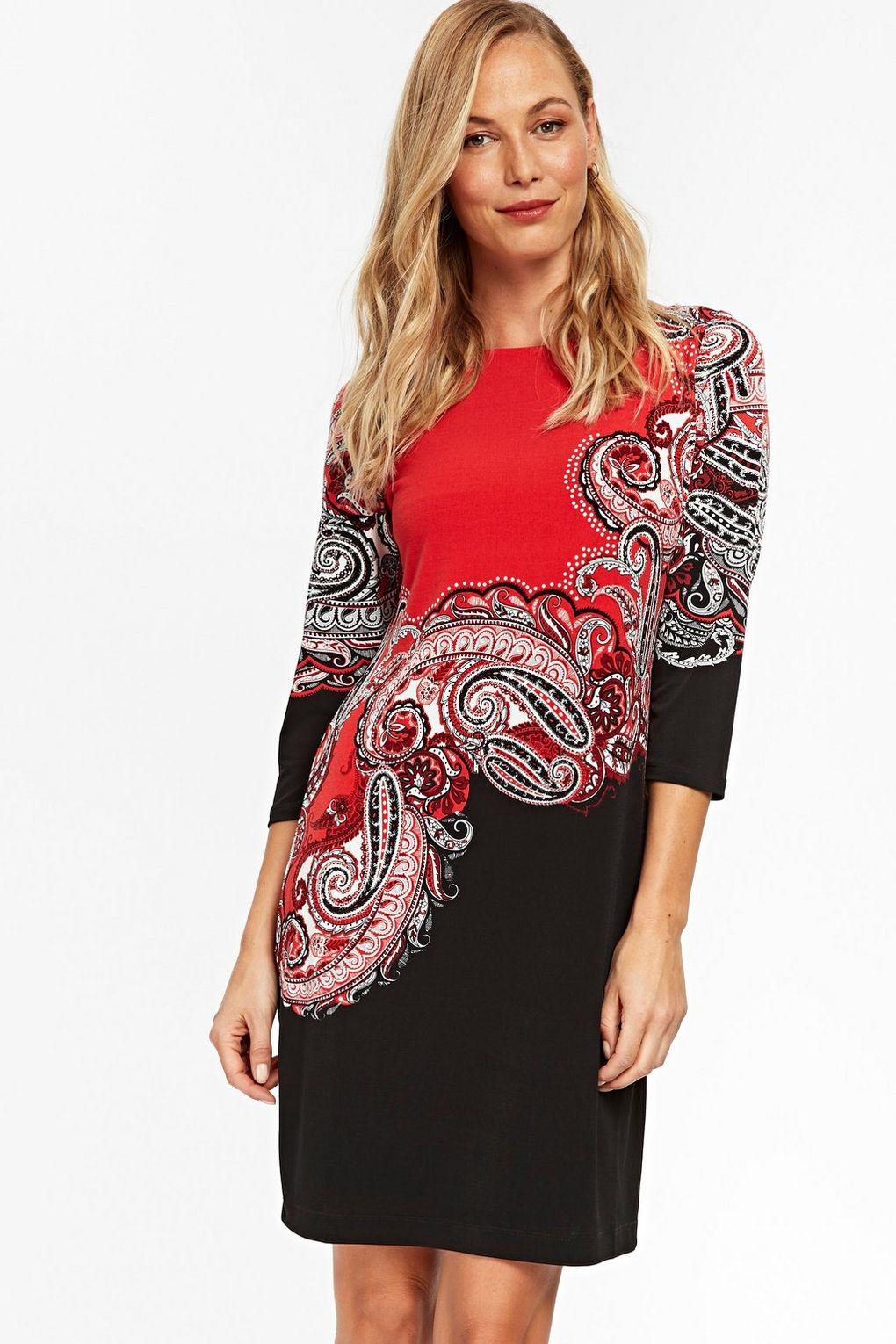 29bfbc95517e Wallis Red Paisley Print Tunic Dress in Red - Lyst