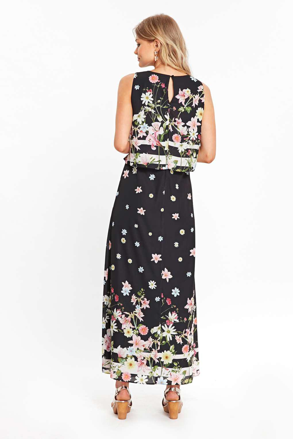 cbd7b9ca1e8 Wallis Petite Black Floral Maxi Dress - Data Dynamic AG