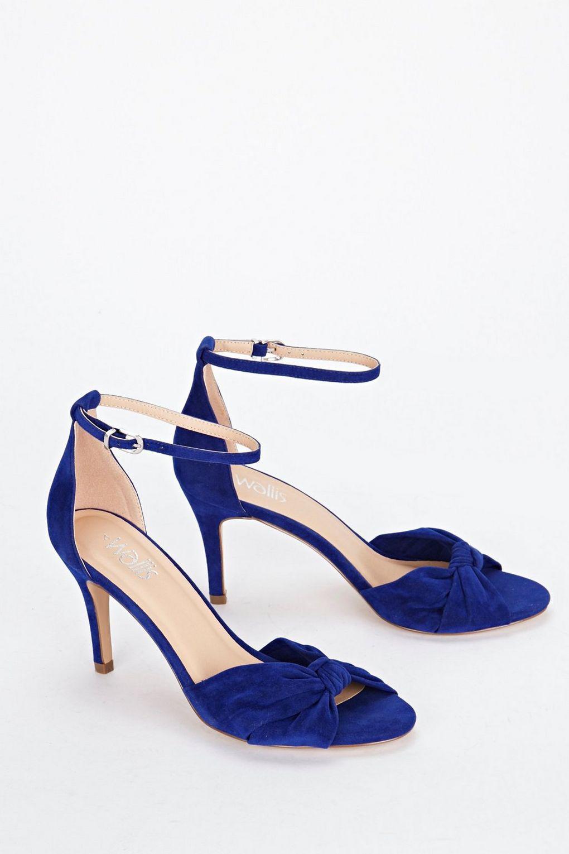 3ce3b7a29e21 Wallis - Blue Knot Ankle Strap Heeled Sandal - Lyst. View fullscreen