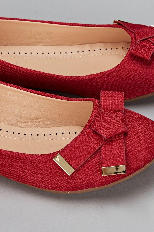 096a5eb4c77 Wallis - Red Ballerina Shoe - Lyst. View fullscreen