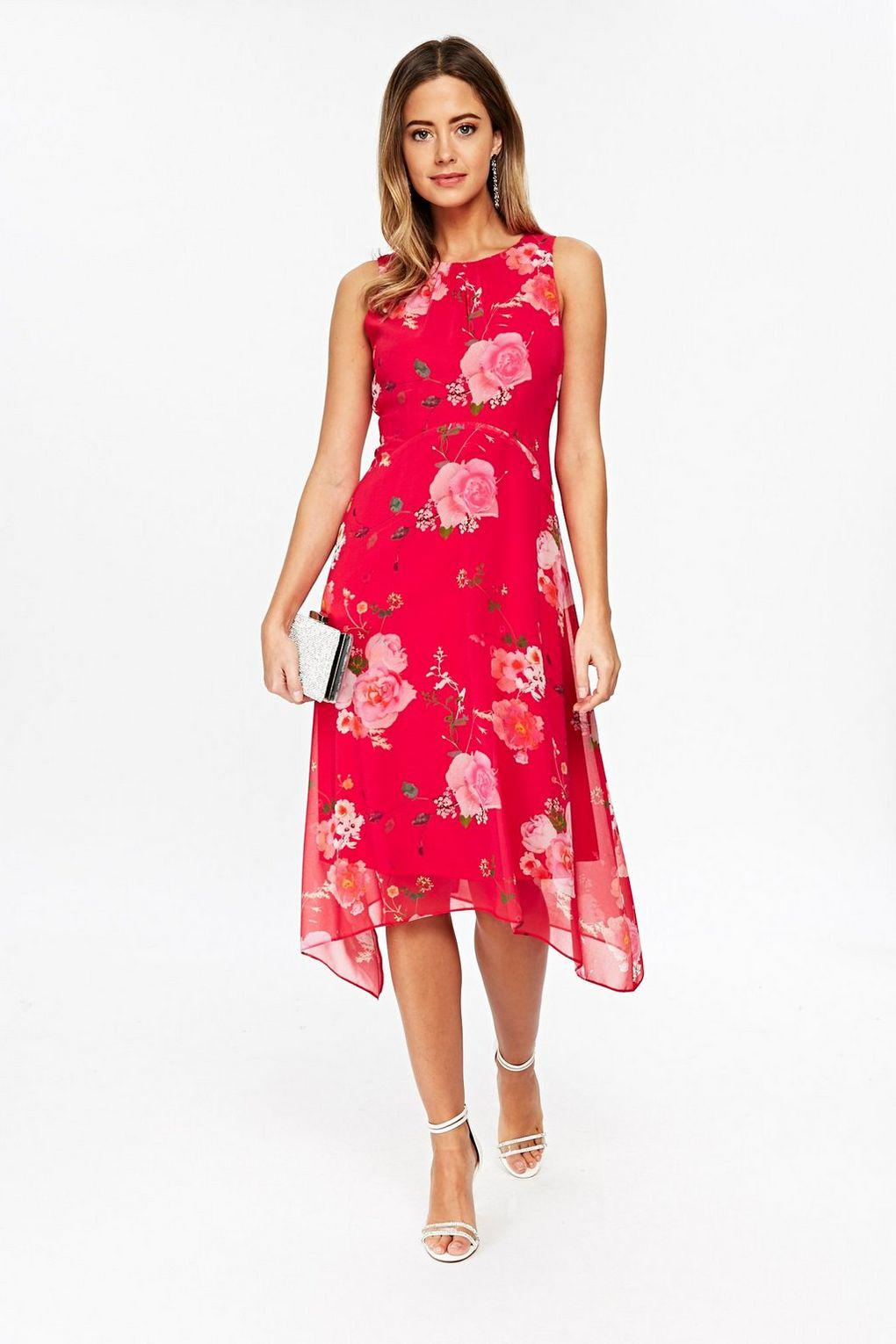 Wallis Petite Pink Floral Print Fit And Flare Dress in Pink - Lyst dad893193