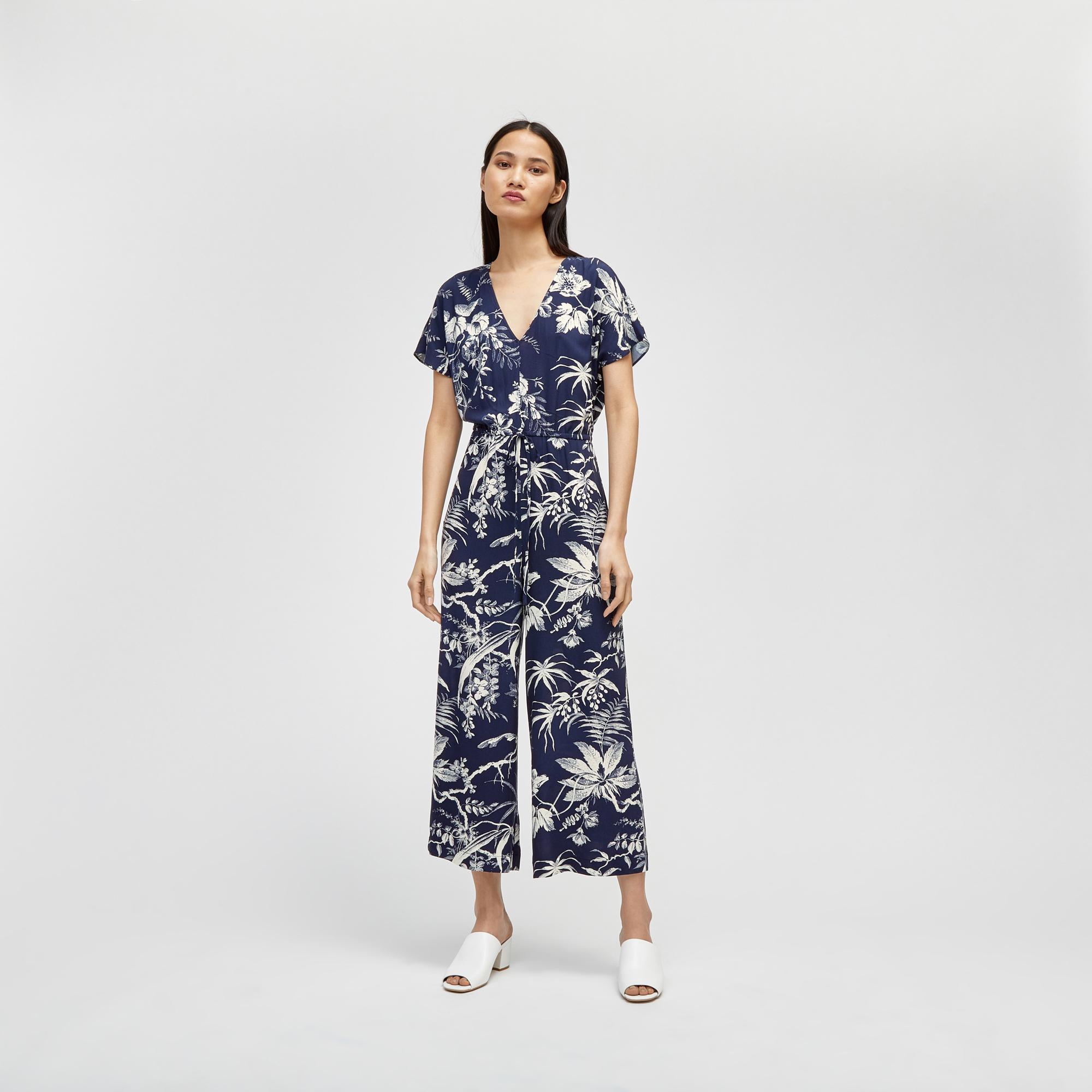af7f1965b04 Warehouse Fern Print Jumpsuit in Blue - Lyst