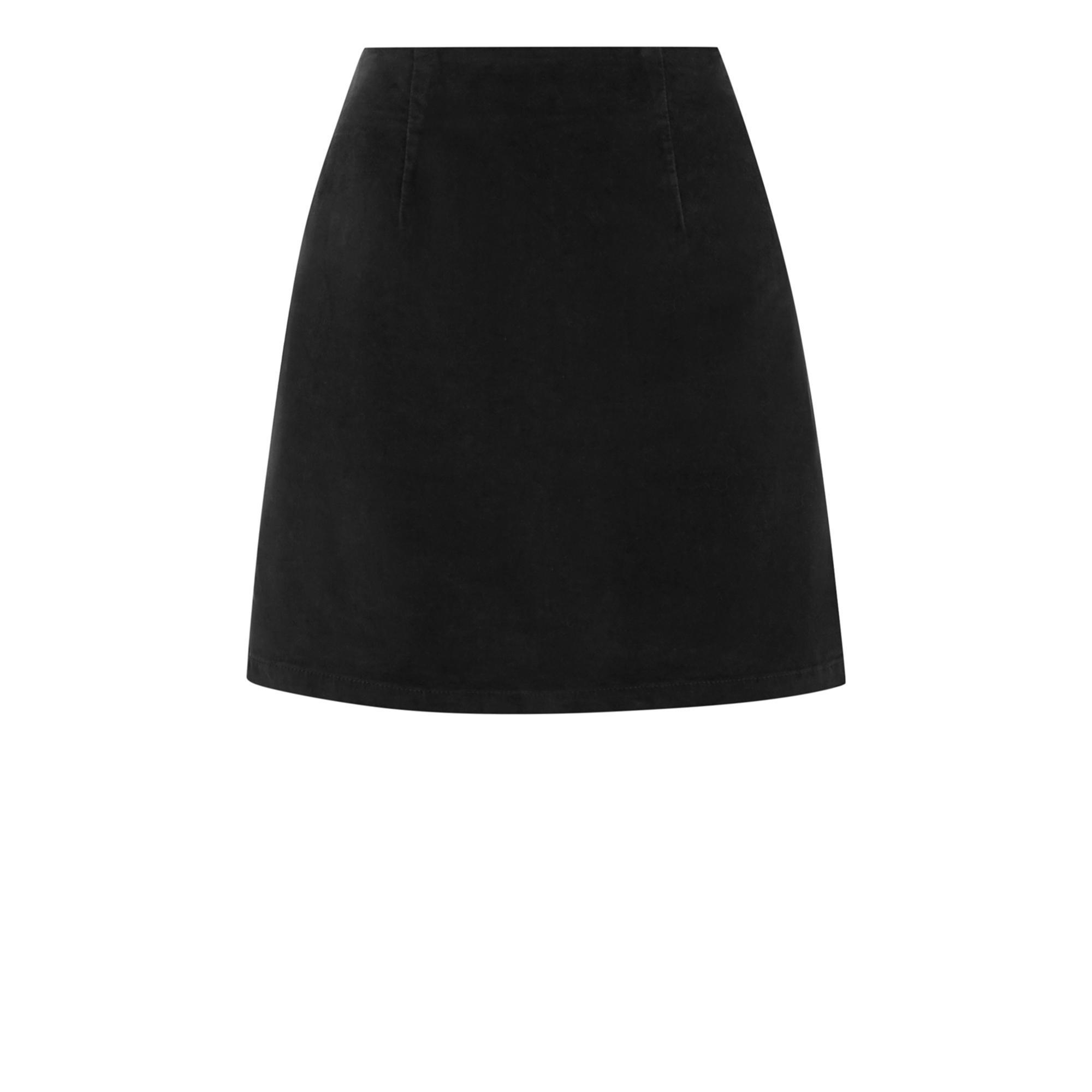957d105d67fb17 Warehouse Velvet Mini Skirt in Black - Lyst