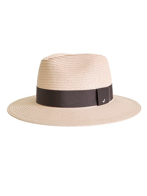 f134446cb55f4 Lyst - Awesome Needs Straw Fedora Hat Pink Dark Purple Strap in Natural