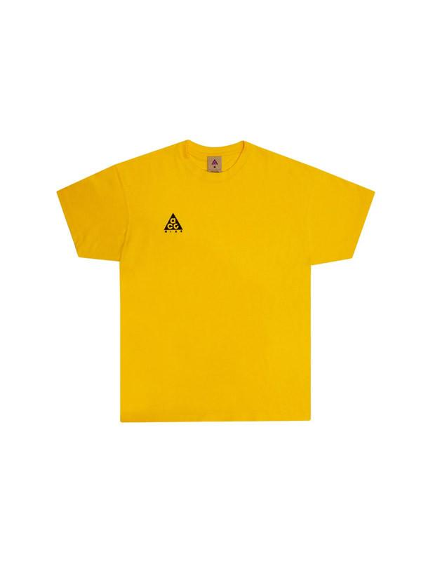 a313d60817 Lyst - Nike Nrg Acg Short Sleeve Logo T-shirt in Yellow for Men