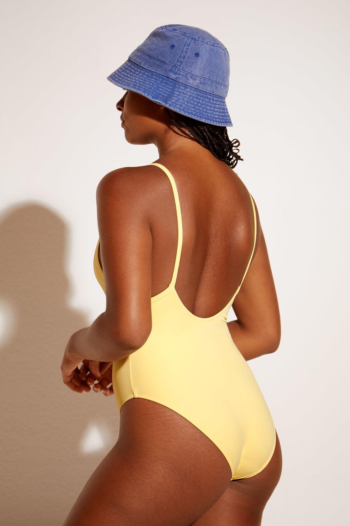 ea1320d6113357 Weekday - Yellow Avery Swimsuit - Lyst. View fullscreen