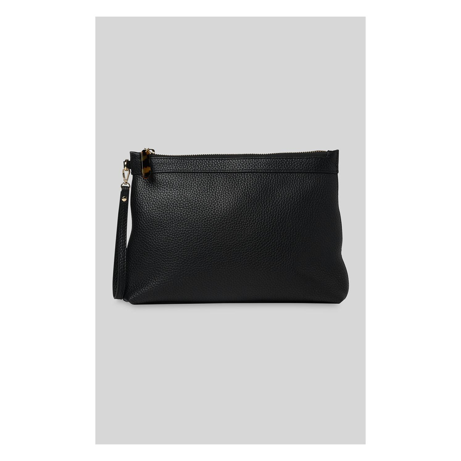 842fd2646914 Whistles Chester Resin Zip Pouch in Black - Lyst