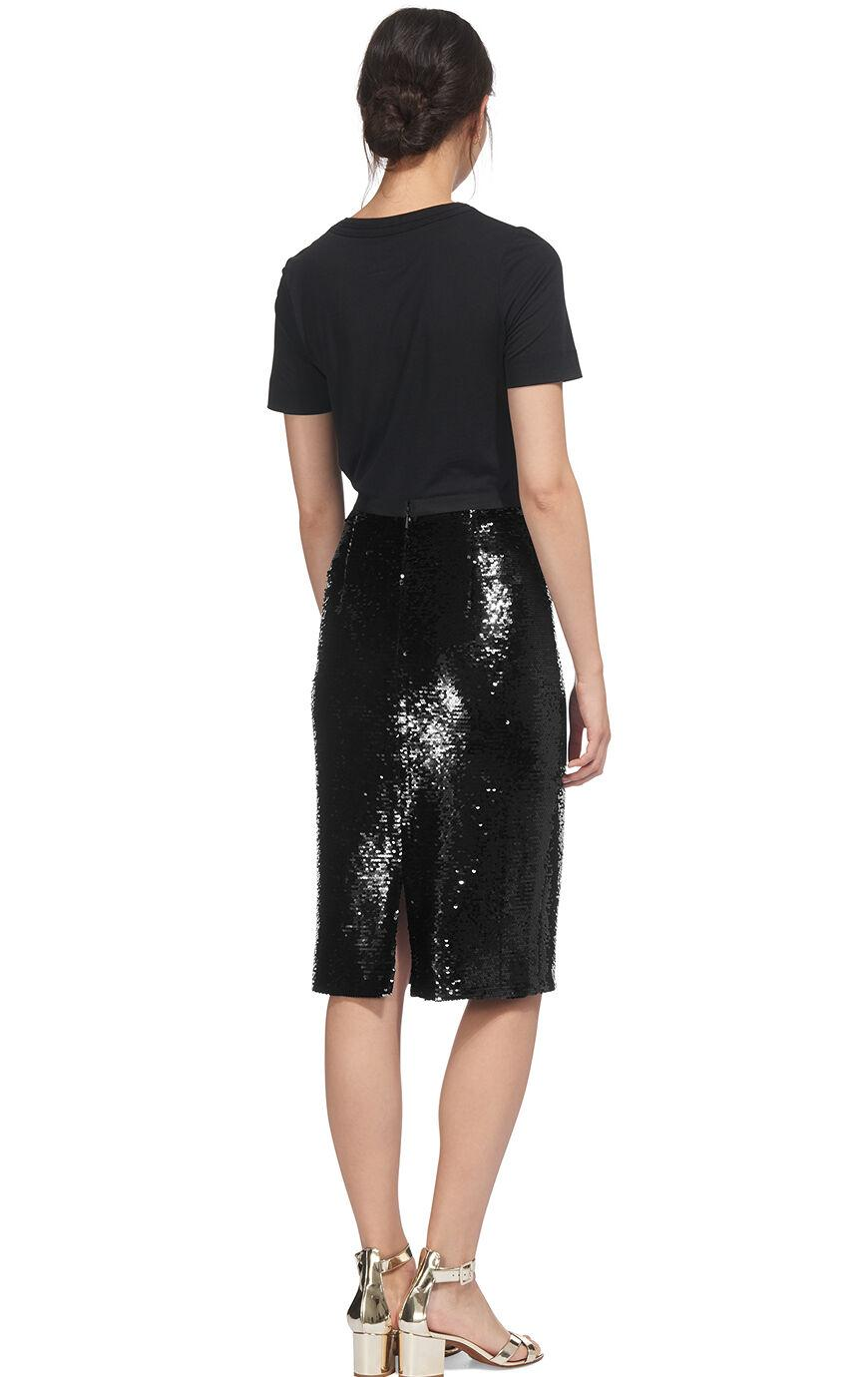0273ab16dd04 ... Sequin Pencil Skirt - Lyst. Visit Whistles. Tap to visit site