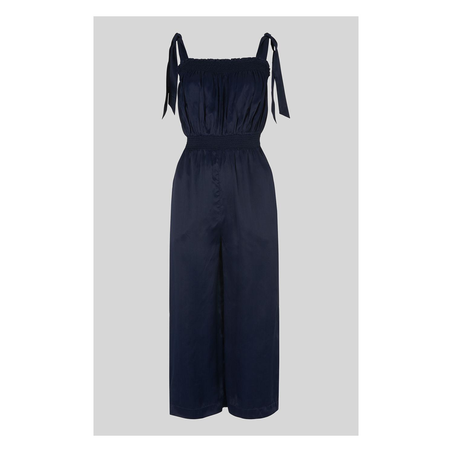 0deae1dc8b19 Lyst - Whistles Ally Tie Shoulder Jumpsuit in Blue