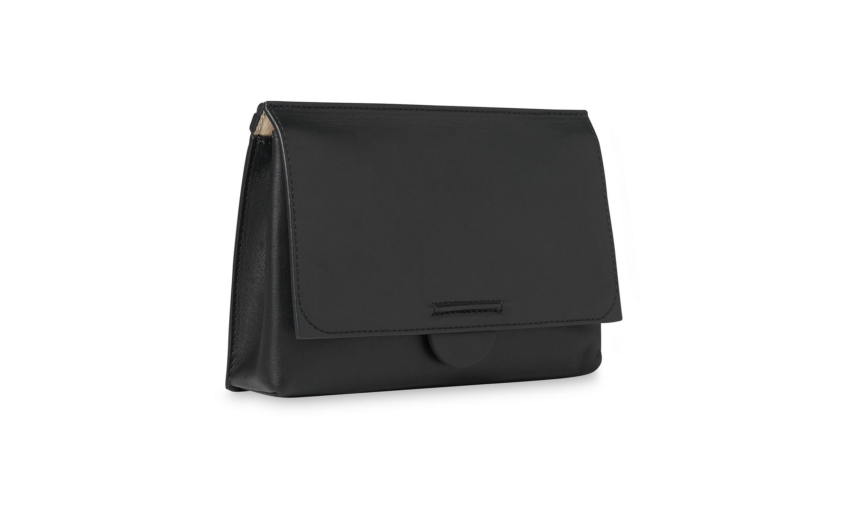 319c6ea7b630 Lyst - Whistles Leyla Flat Seam Crossbody Bag in Black