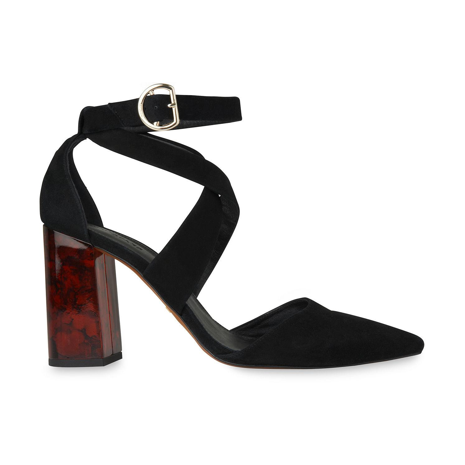 2973872c6fce Whistles Taylor Cross Front Marble Heel in Black - Lyst