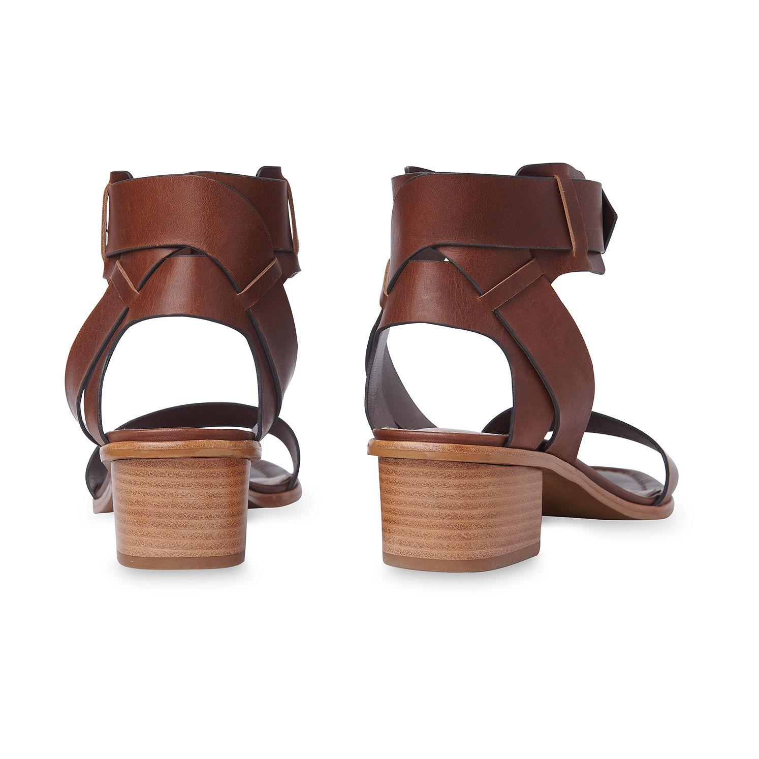 6191d0ea5a Lyst - Whistles Lennox Cuff Mid Block Sandal in Brown - Save 91%