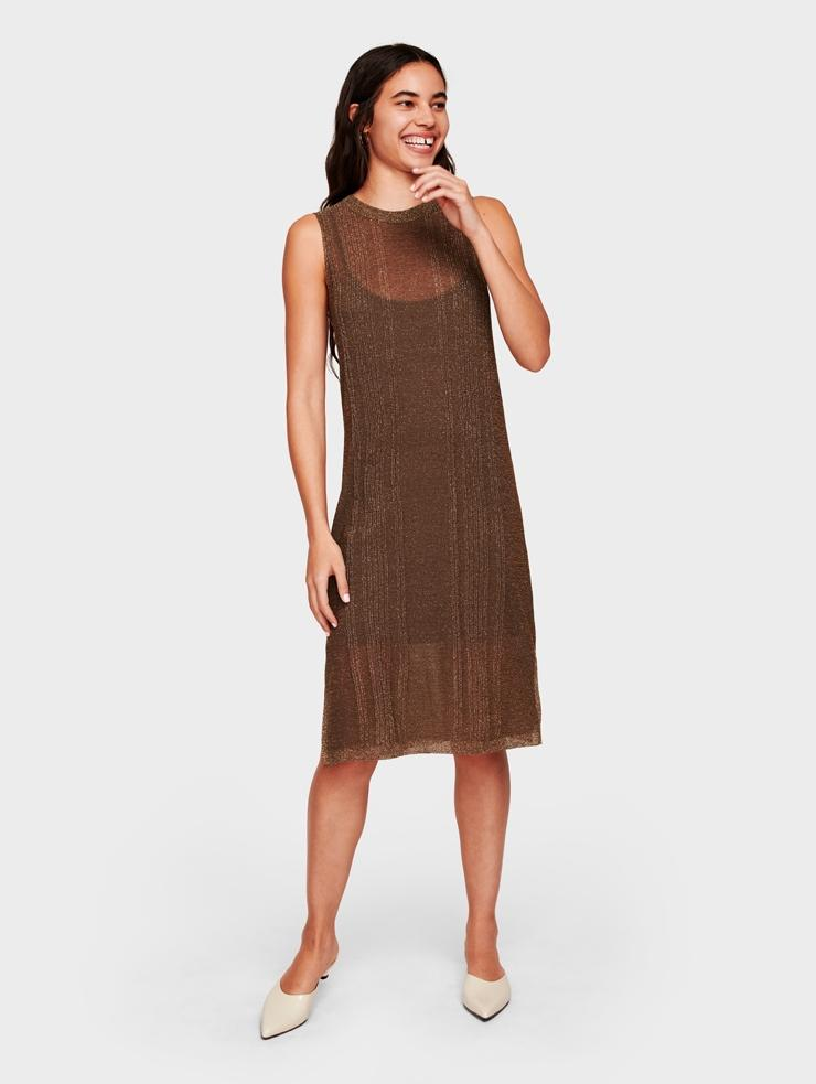 cf3d87f02e2 White + Warren Italian Summer Shine Tank Dress in Brown - Lyst