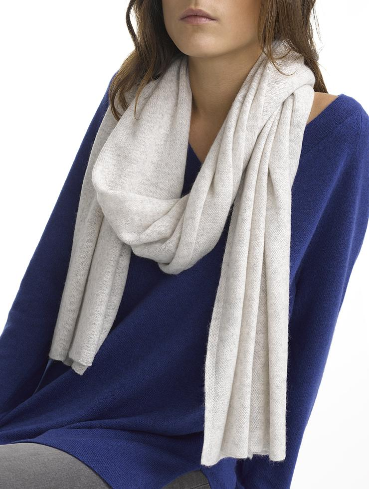 Lyst - White + Warren Cashmere Wrap Scarf in Gray